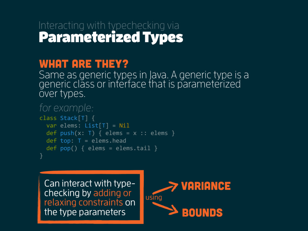 Parameterized Types Interacting with typechecki...