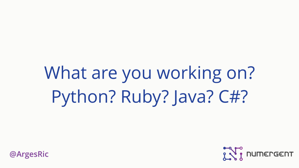@ArgesRic What are you working on? Python? Ruby...