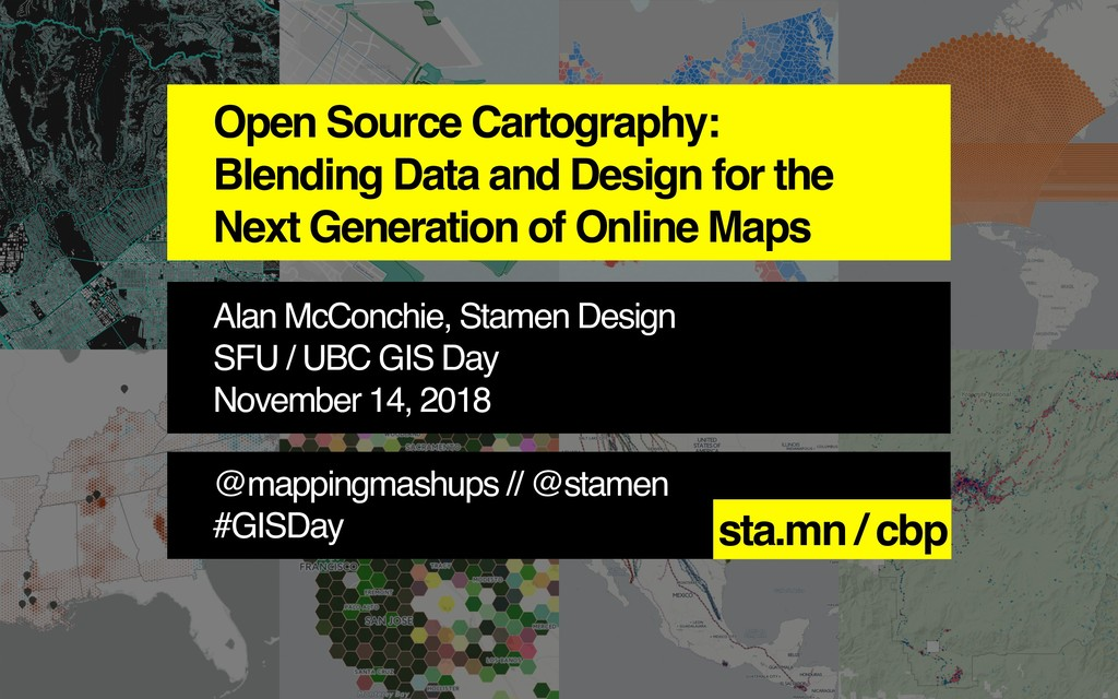 Open Source Cartography: Blending Data and Desi...