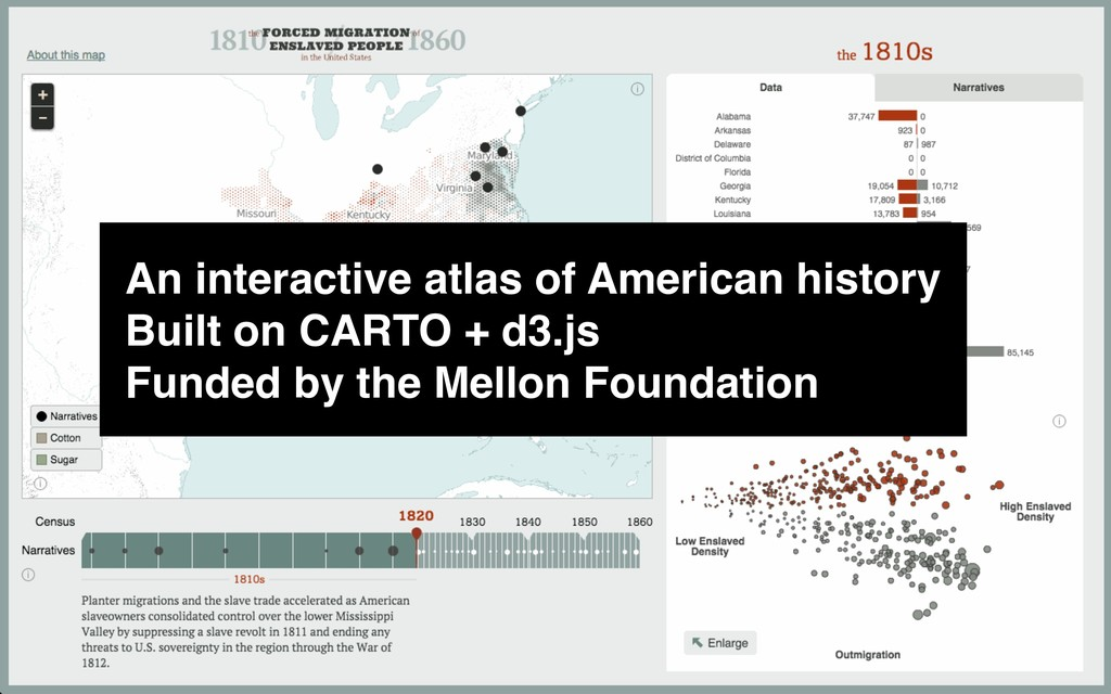 An interactive atlas of American history Built ...