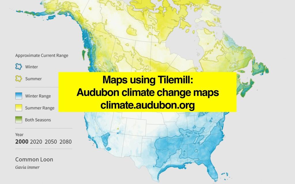 Maps using Tilemill: Audubon climate change map...