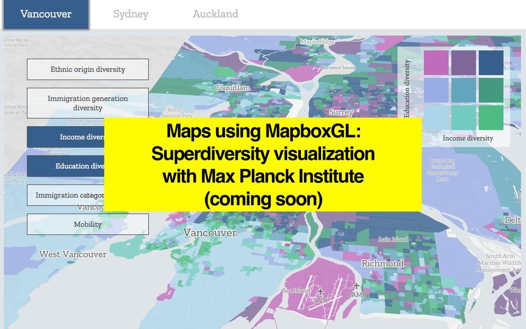 Maps using MapboxGL: Superdiversity visualizati...