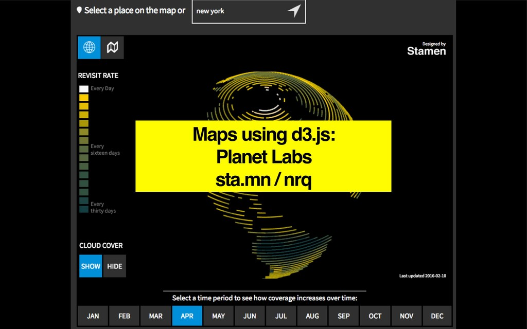 Maps using d3.js: Planet Labs sta.mn / nrq