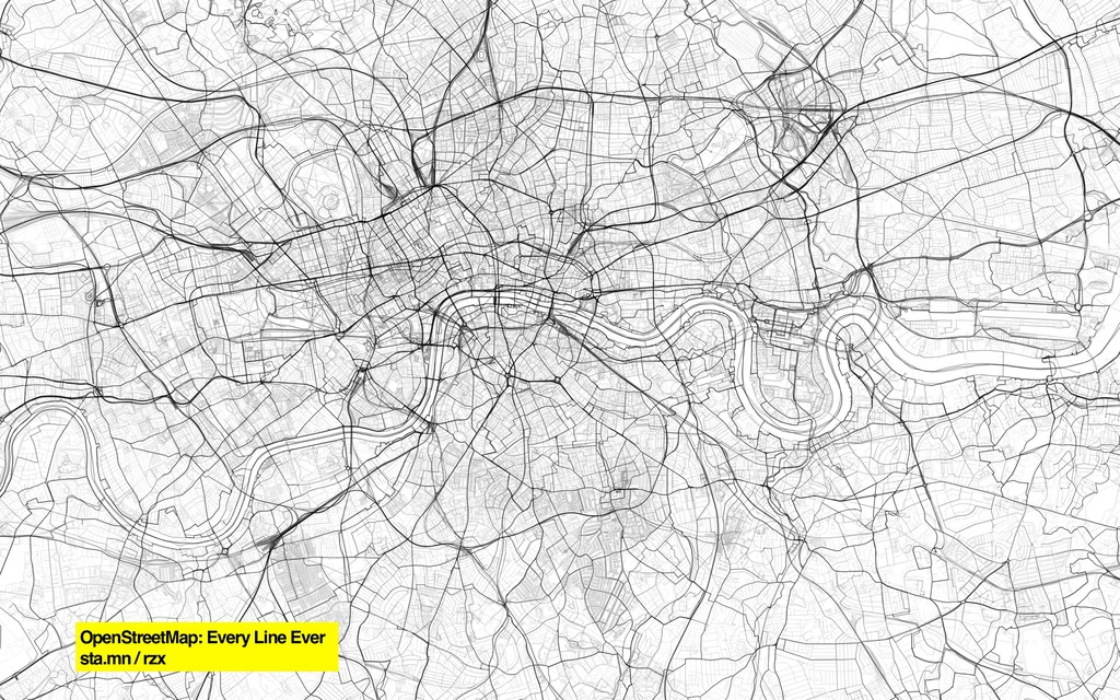 • OpenStreetMap: Every Line Ever sta.mn / rzx