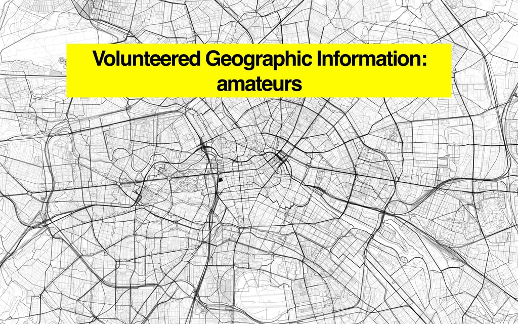 Volunteered Geographic Information: amateurs