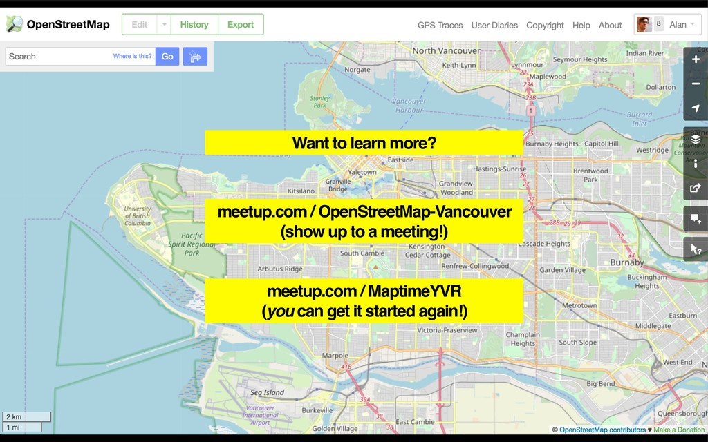 meetup.com / OpenStreetMap-Vancouver (show up t...