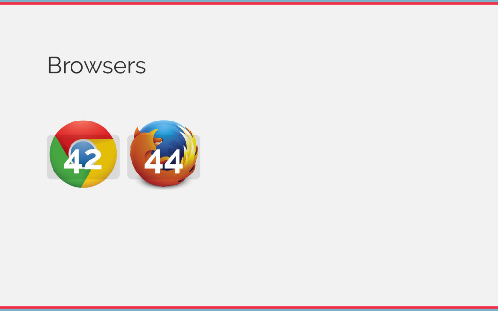 Browsers 42 44