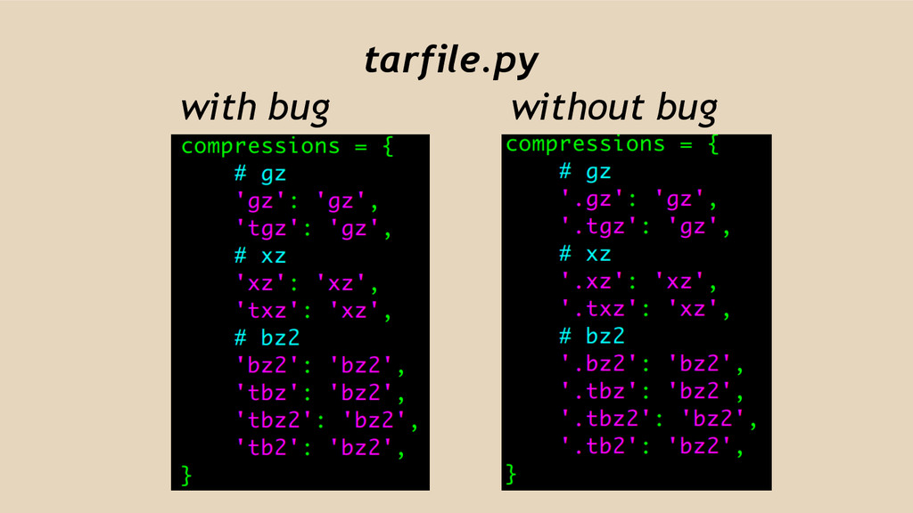 tarfile.py with bug without bug