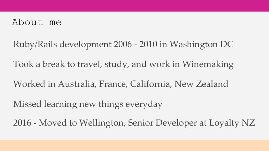 About me Ruby/Rails development 2006 - 2010 in ...