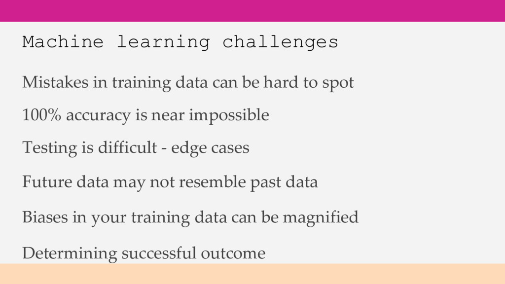 Machine learning challenges Mistakes in trainin...