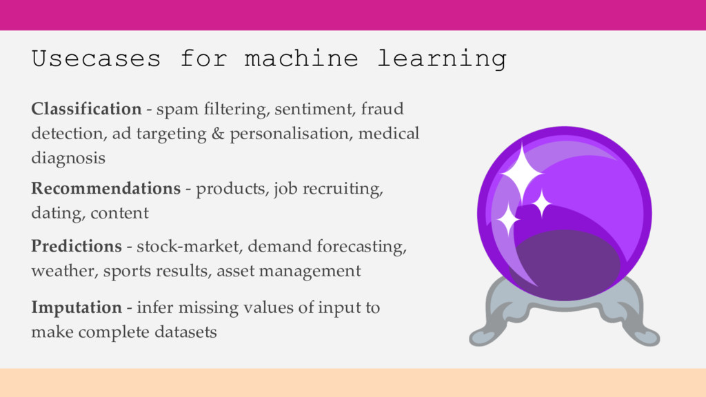 Usecases for machine learning Classification - ...