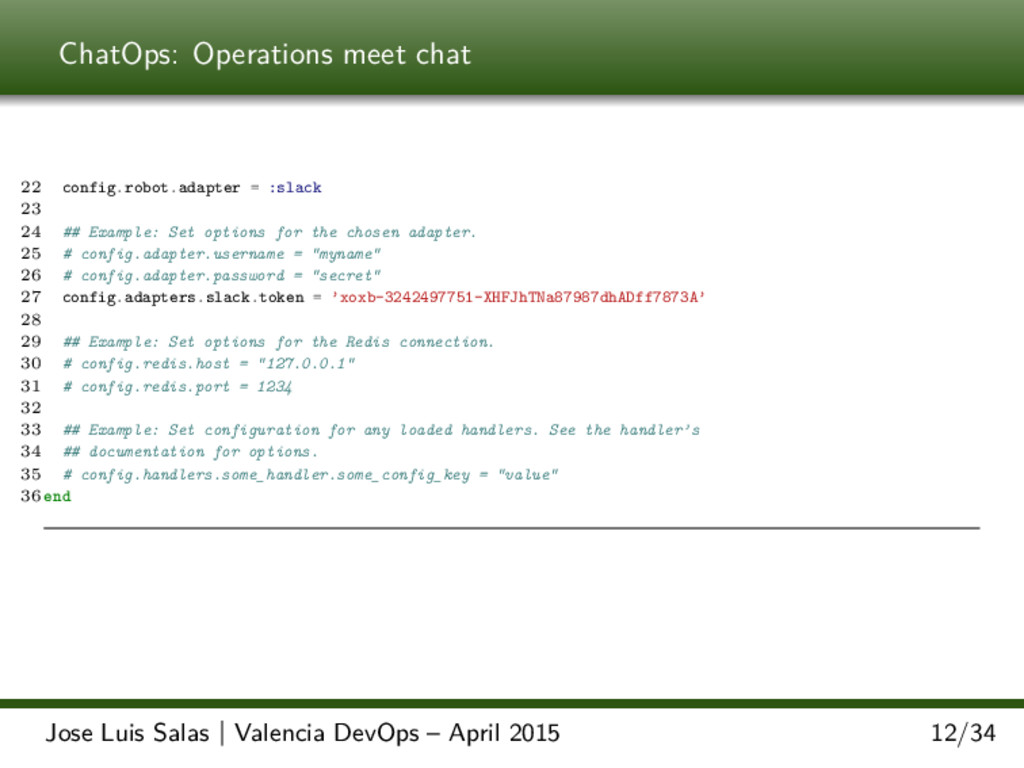 ChatOps: Operations meet chat 22 config.robot.a...
