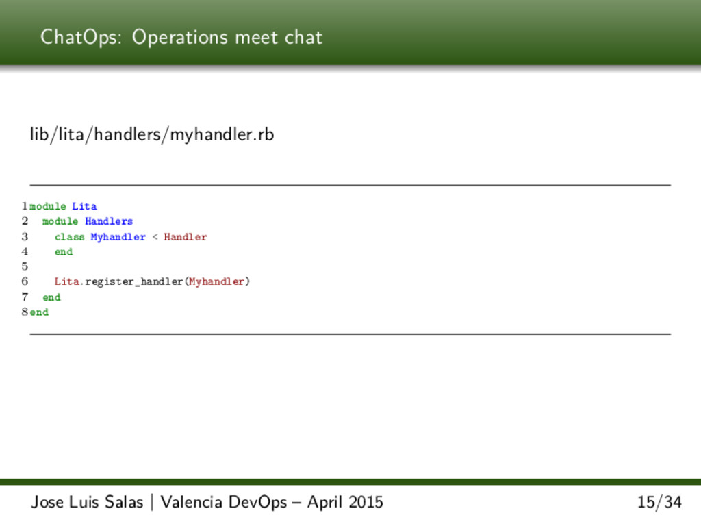 ChatOps: Operations meet chat lib/lita/handlers...