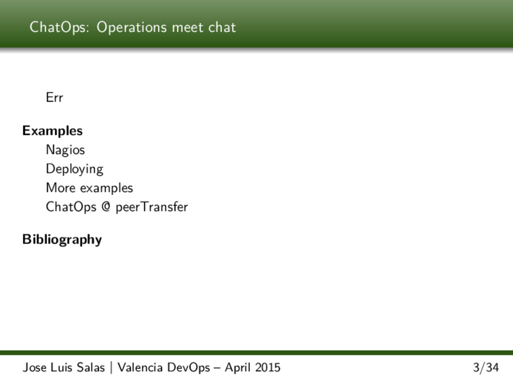 ChatOps: Operations meet chat Err Examples Nagi...