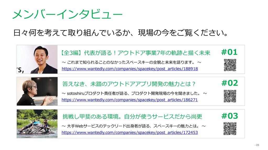 - 25 メンバーインタビュー 【全3編】代表が語る!アウトドア事業7年の軌跡と描く未来 ~ ...