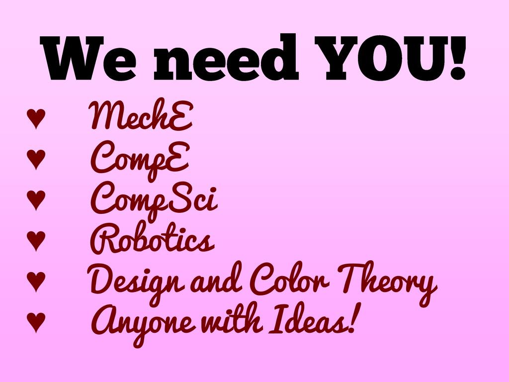 ♥ MechE ♥ CompE ♥ CompSci ♥ Robotics ♥ Design a...
