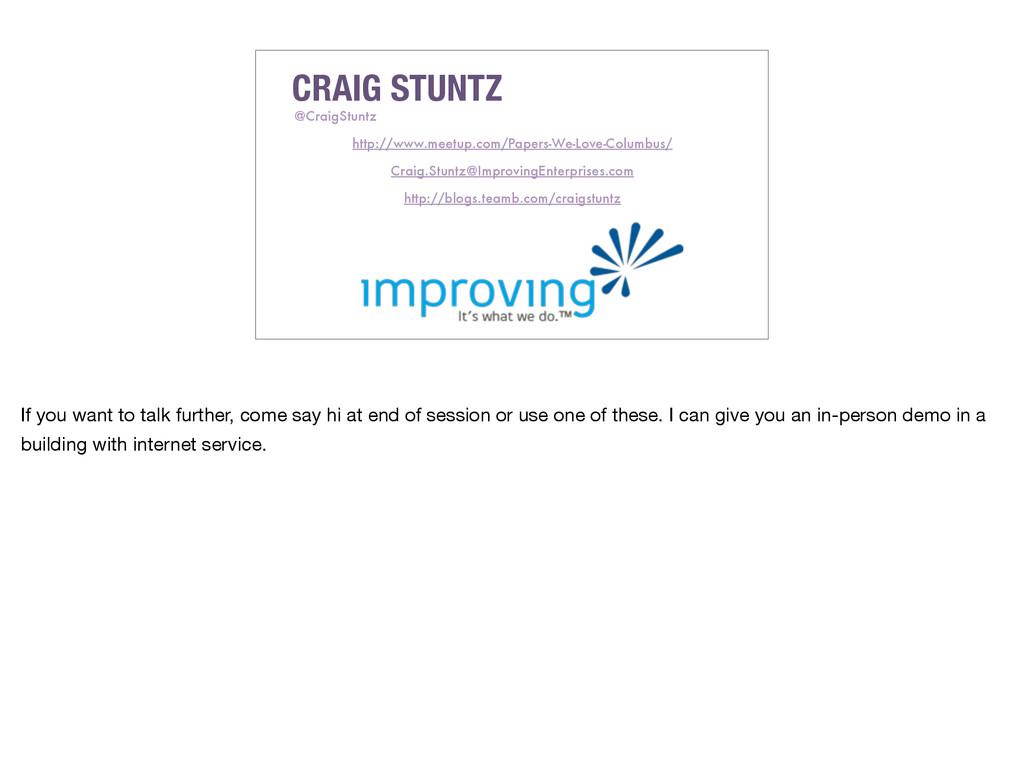 CRAIG STUNTZ @CraigStuntz Craig.Stuntz@Improvin...