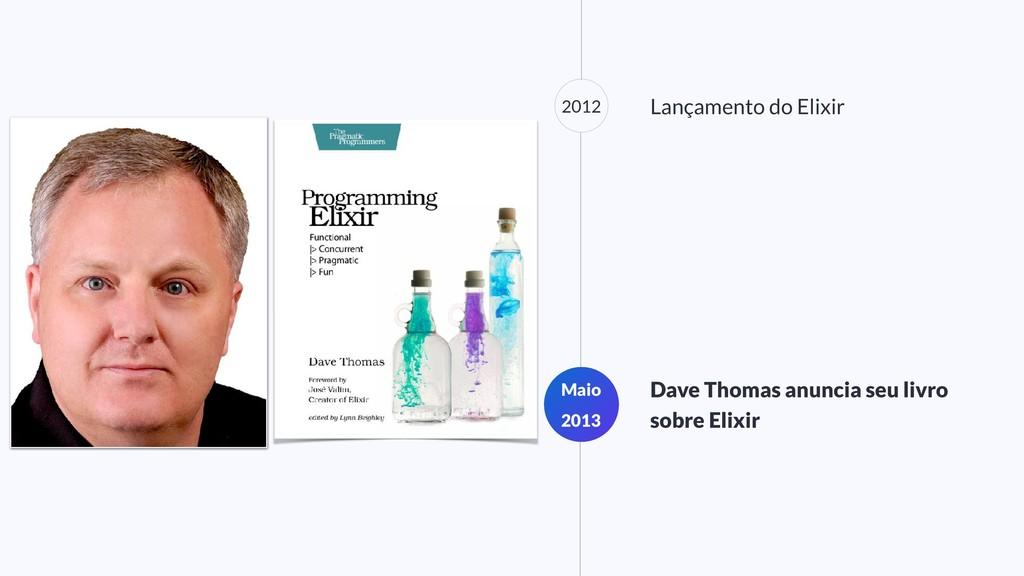 2012 Lançamento do Elixir Maio 2013 Dave Thomas...