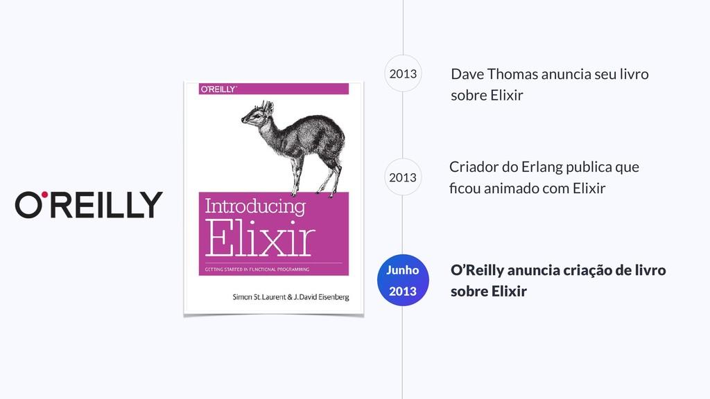 2013 Dave Thomas anuncia seu livro sobre Elixir...