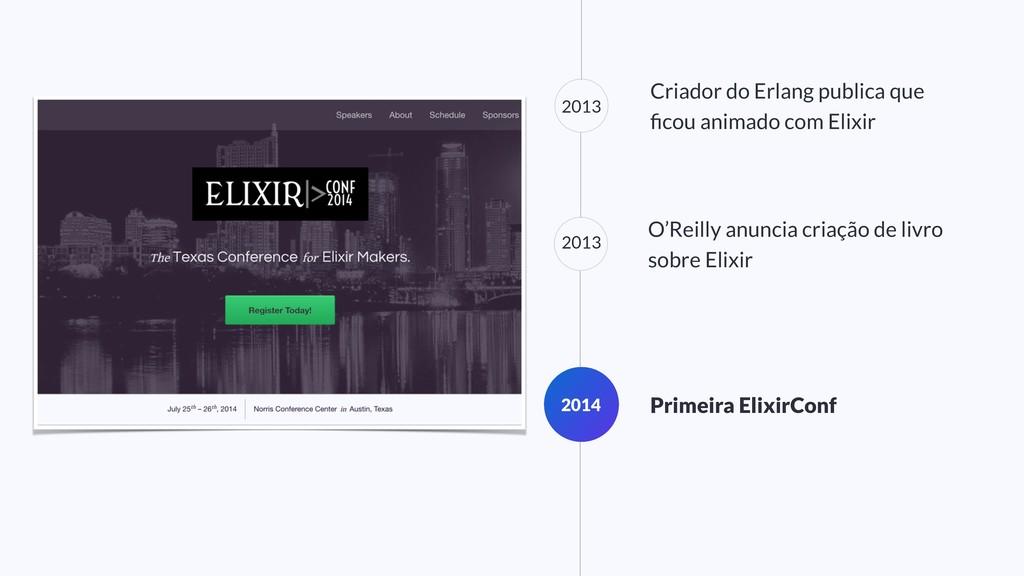2013 Criador do Erlang publica que ficou animado...
