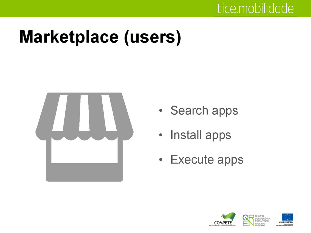 Marketplace (users) •  Search apps •  Install a...