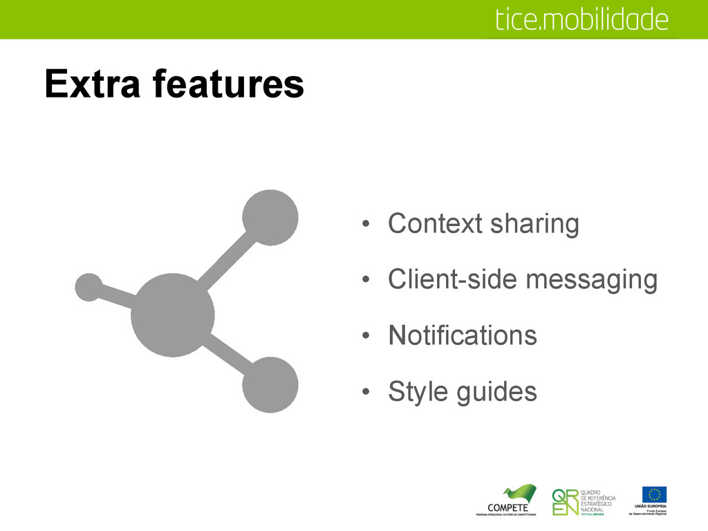Extra features •  Context sharing •  Client-sid...