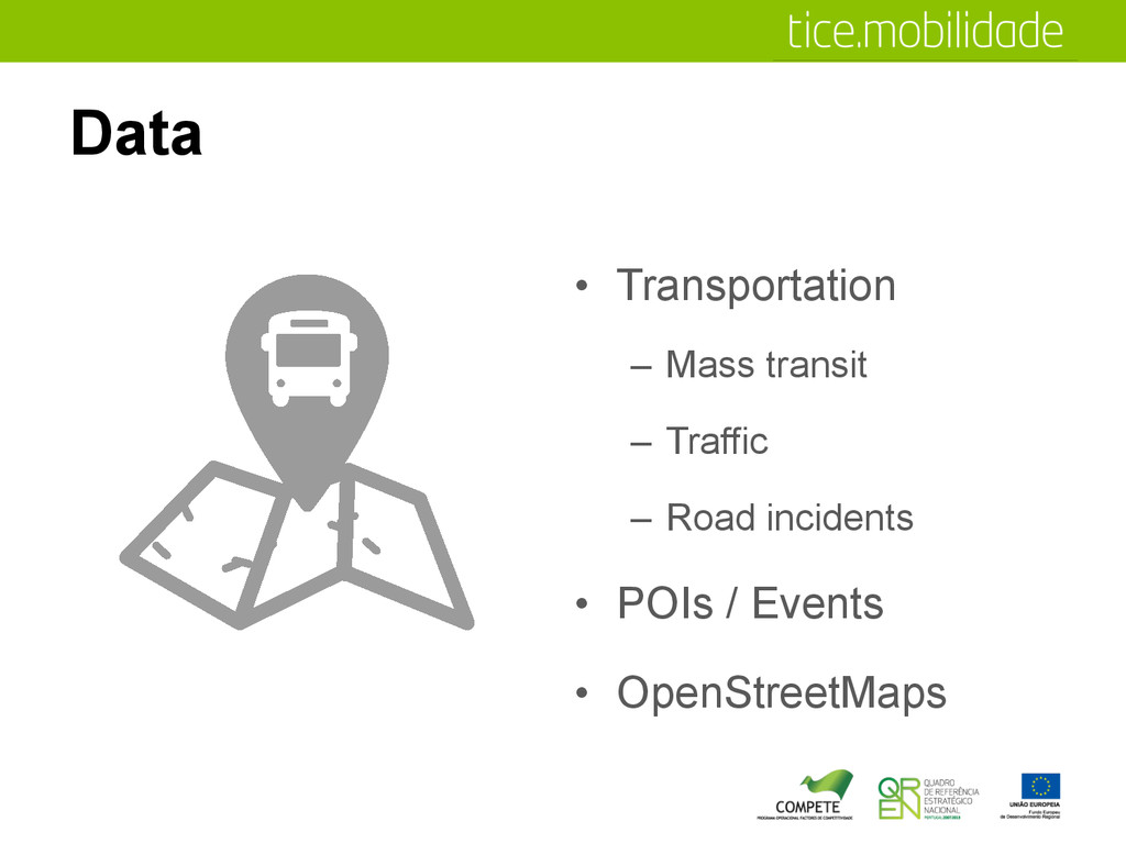 Data •  Transportation –  Mass transit –  Traff...