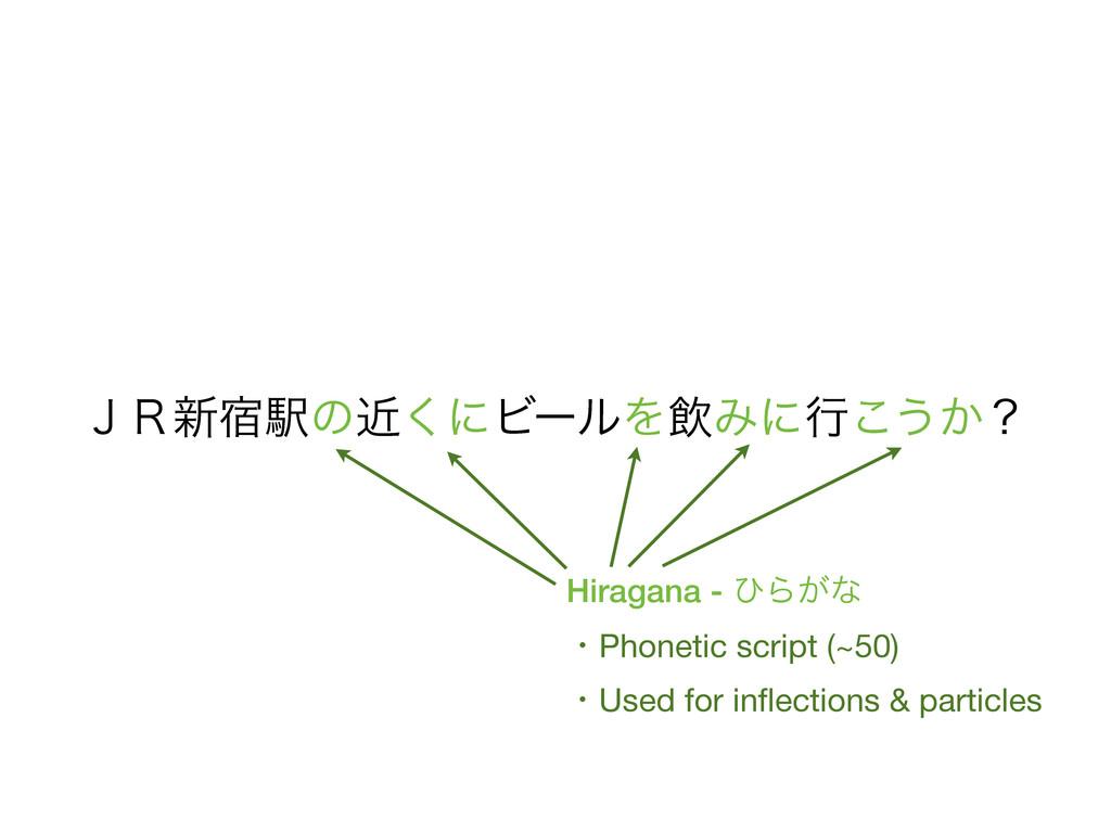 Hiragana - ͻΒ͕ͳ ɾPhonetic script (~50) ɾUsed fo...