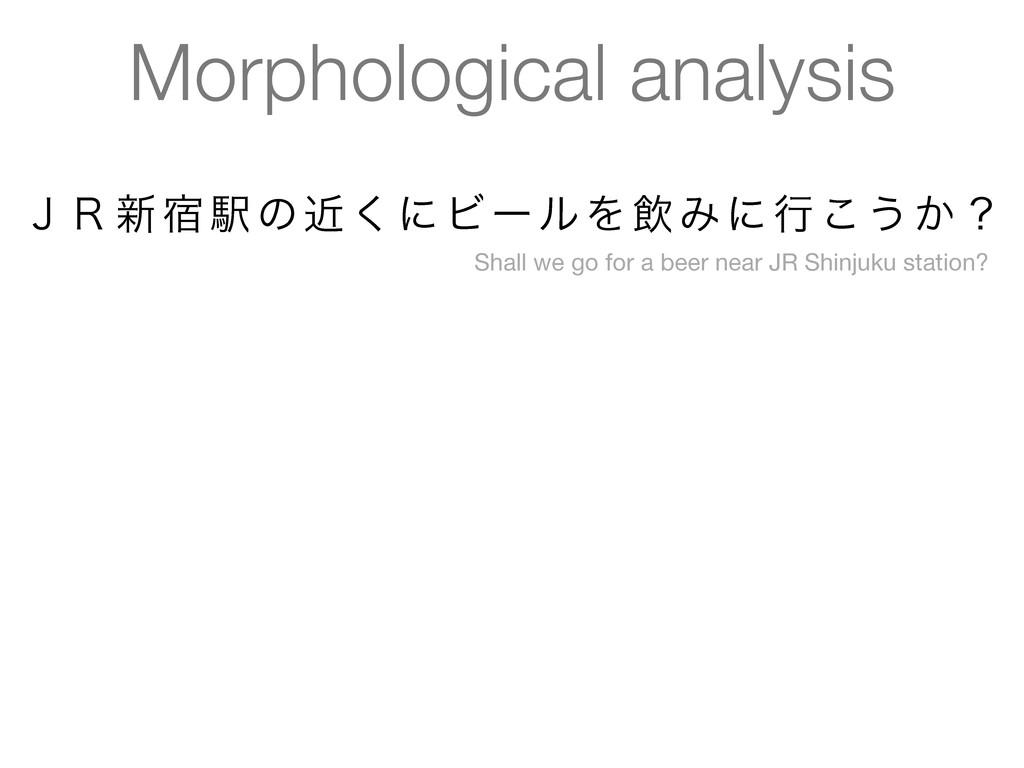 Morphological analysis ̧̟৽॓Ӻͷۙ͘ʹϏʔϧΛҿΈʹߦ͜͏͔ʁ Sh...
