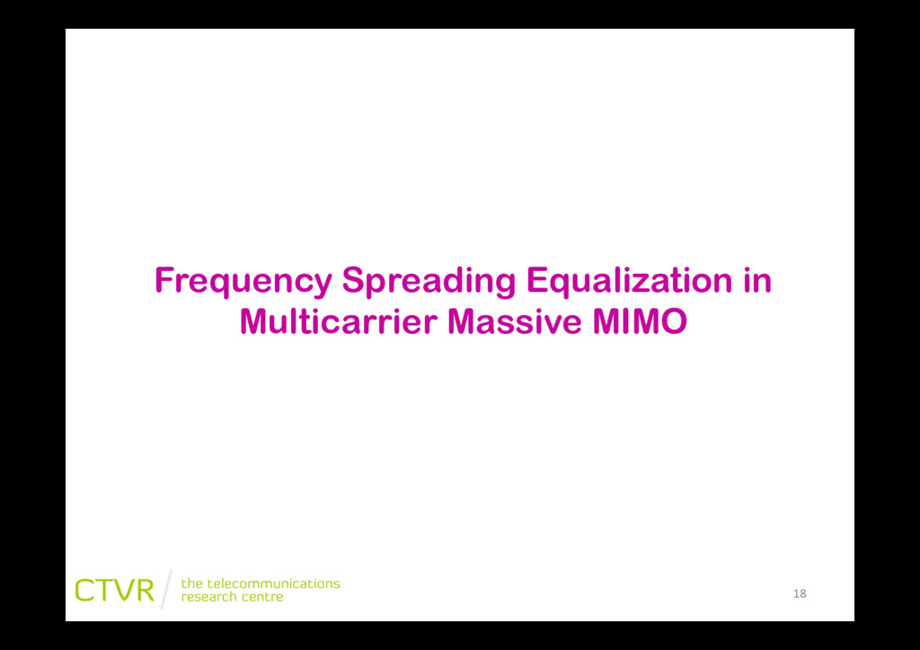 """18"""" Frequency Spreading Equalization in Multica..."""