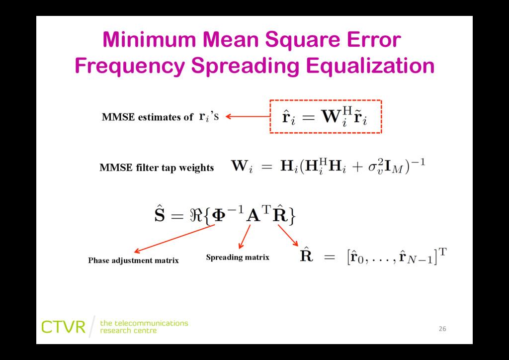 """26"""" Minimum Mean Square Error Frequency Spreadi..."""