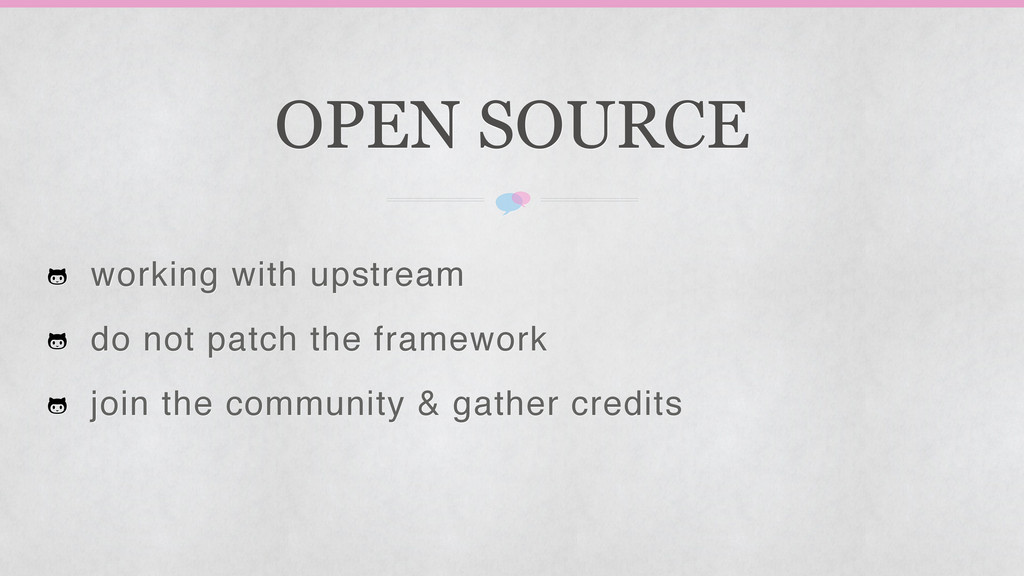 OPEN SOURCE working with upstream do not patch ...