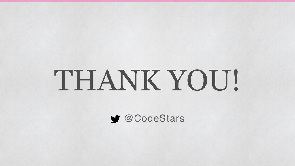 THANK YOU! @CodeStars