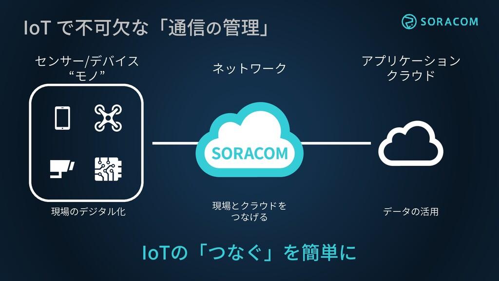 """アプリケーション クラウド ネットワーク センサー/デバイス """"モノ"""" IoT で不可欠な「通..."""