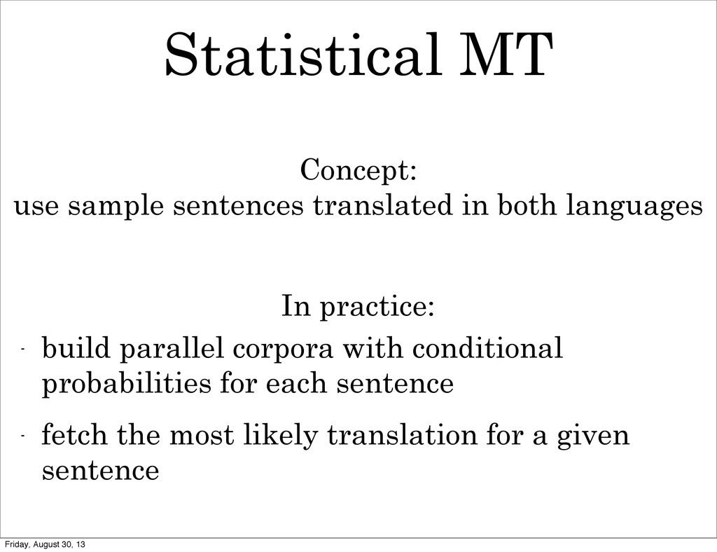 Statistical MT - build parallel corpora with co...