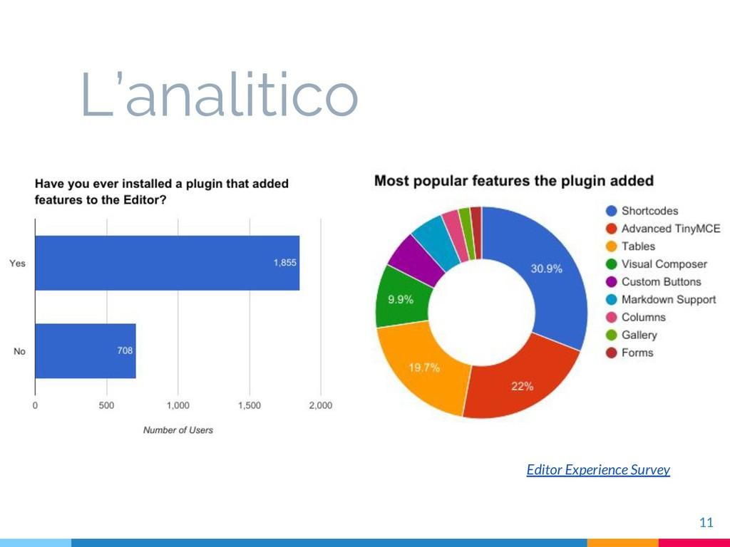 11 L'analitico Editor Experience Survey