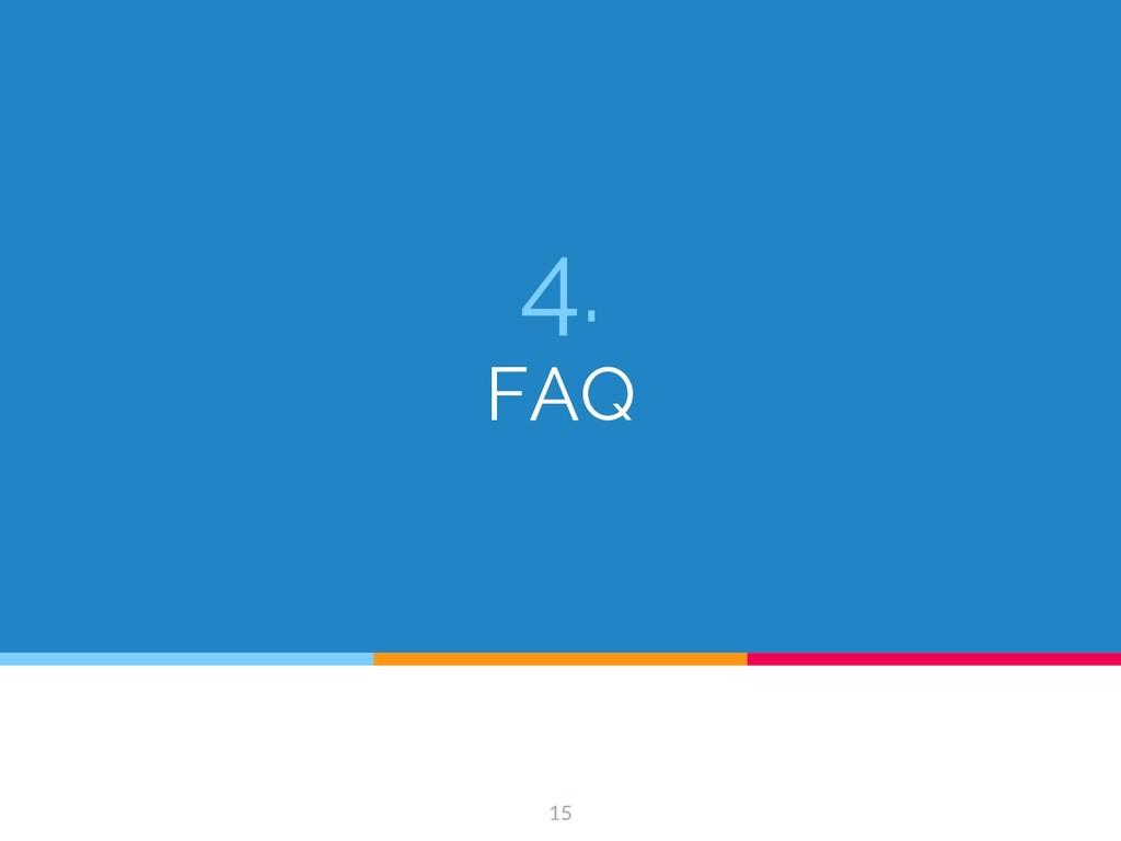 4. FAQ 15