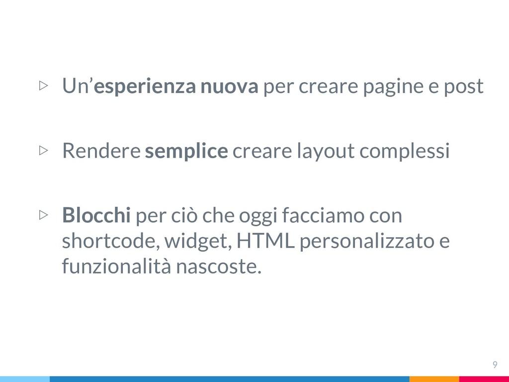 ▷ Un'esperienza nuova per creare pagine e post ...