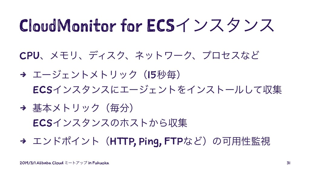 CloudMonitor for ECSΠϯελϯε CPUɺϝϞϦɺσΟεΫɺωοτϫʔΫɺ...