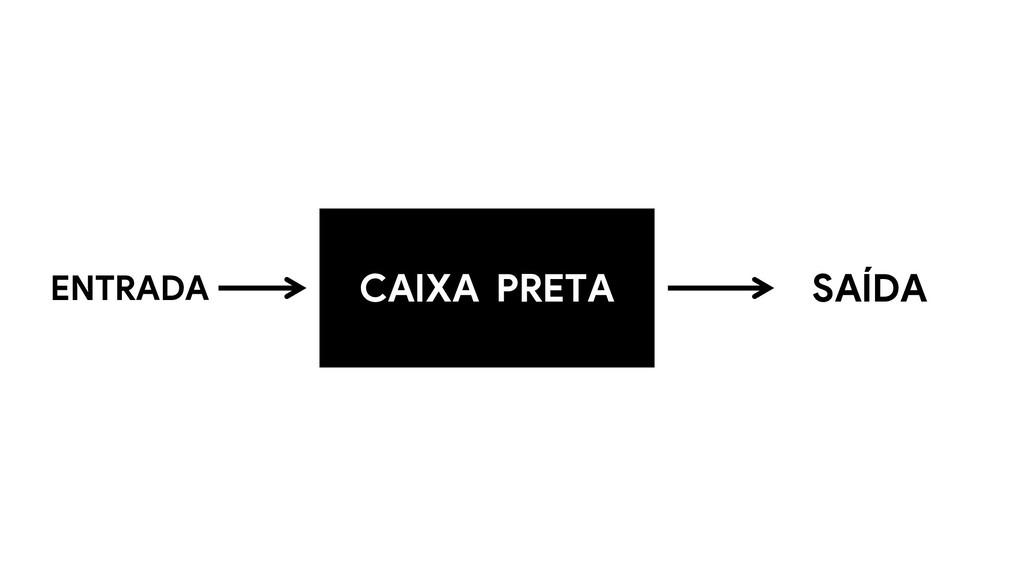 CAIXA PRETA ENTRADA SAÍDA