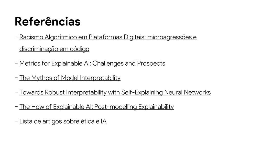 Referências − Racismo Algorítmico em Plataforma...