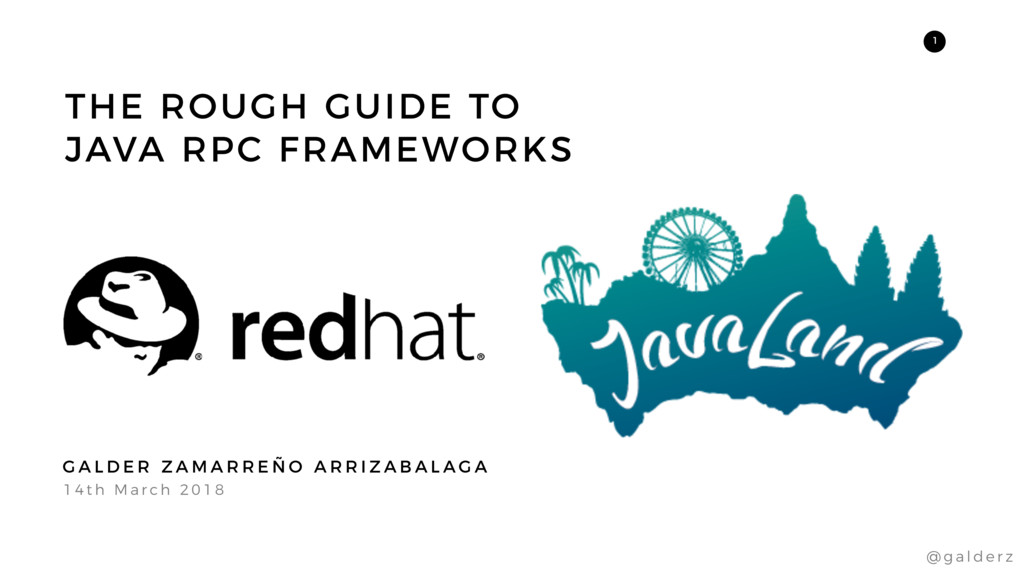 THE ROUGH GUIDE TO JAVA RPC FRAMEWORKS 1 4 t h ...