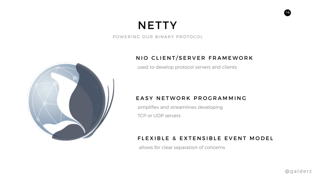 NETTY used to develop protocol servers and clie...