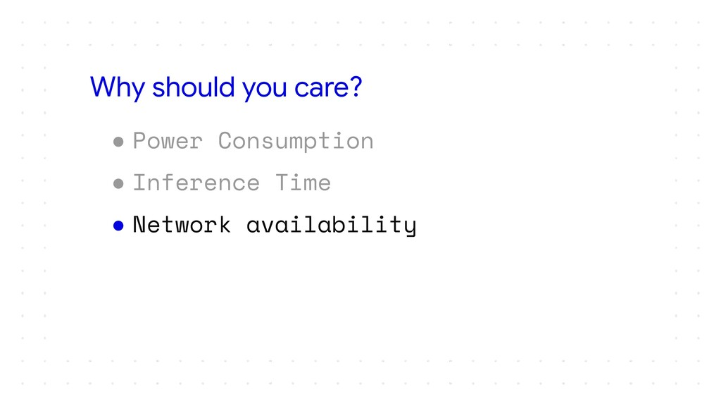 ● Power Consumption ● Inference Time ● Network ...