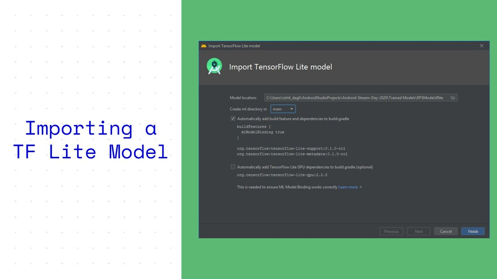 Importing a TF Lite Model
