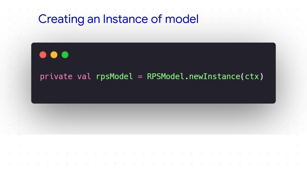 Creating an Instance of model