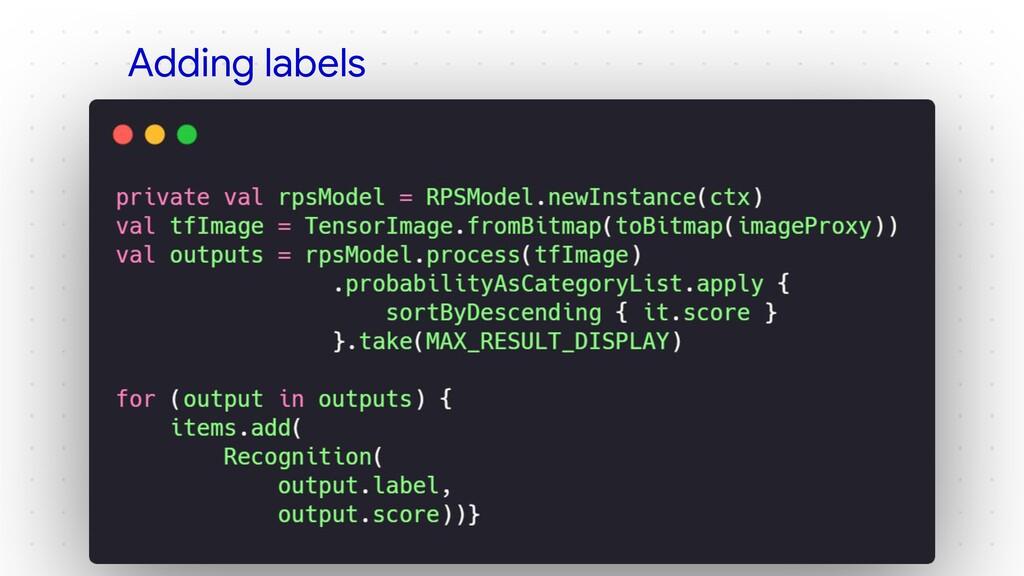 Adding labels