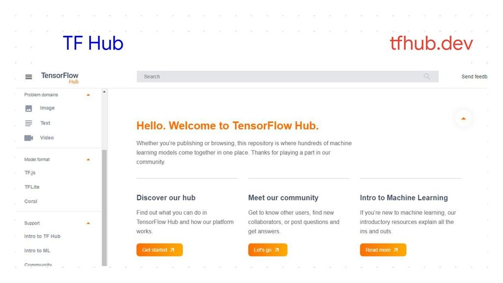 TF Hub tfhub.dev