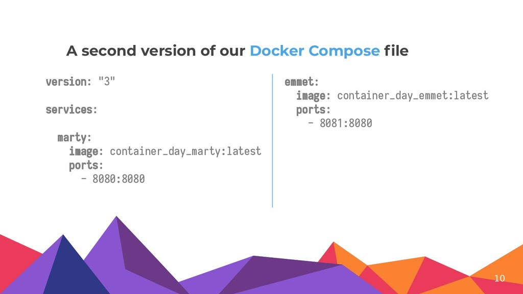 """version: """"3"""" services: marty: image: container_..."""