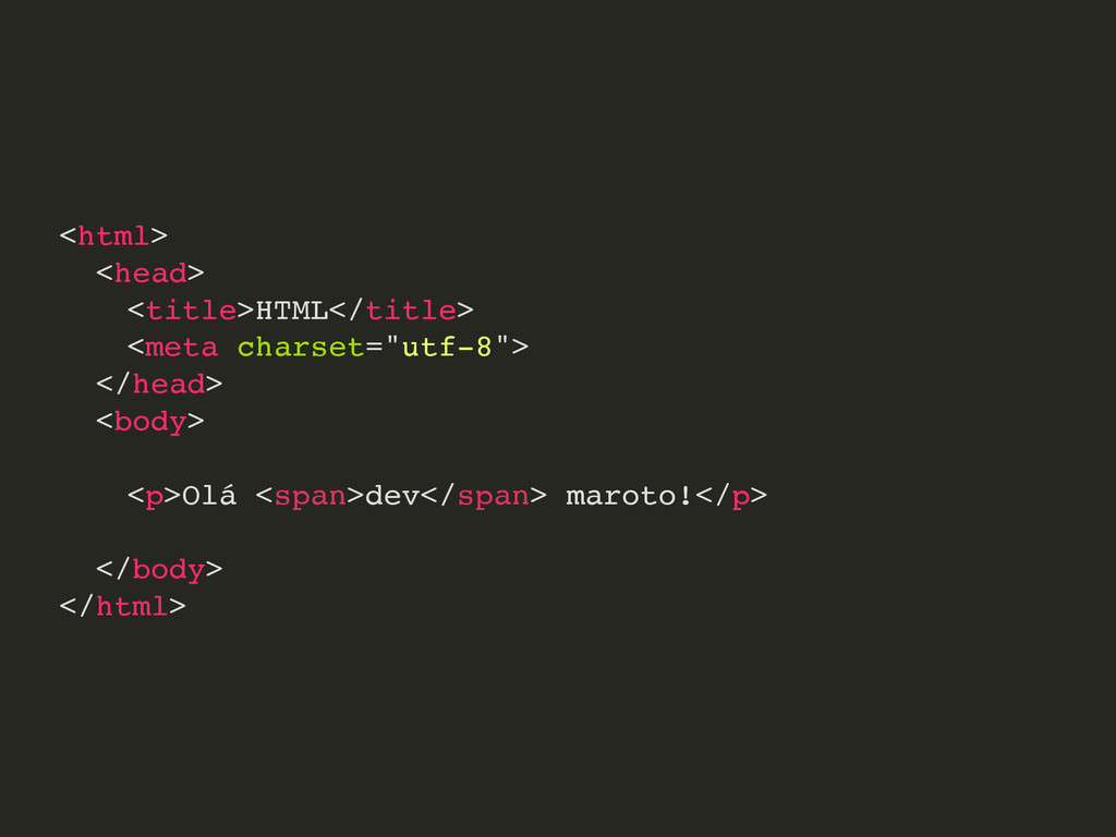 <html> <head> <title>HTML</title> <meta charset...